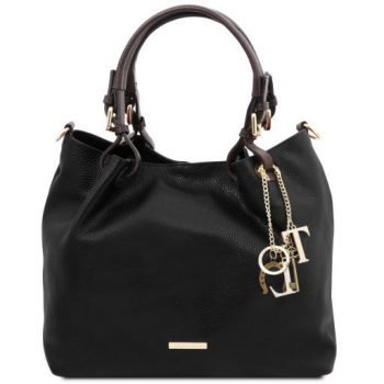 Soft Leather Shopping Bag - TL Keyluck