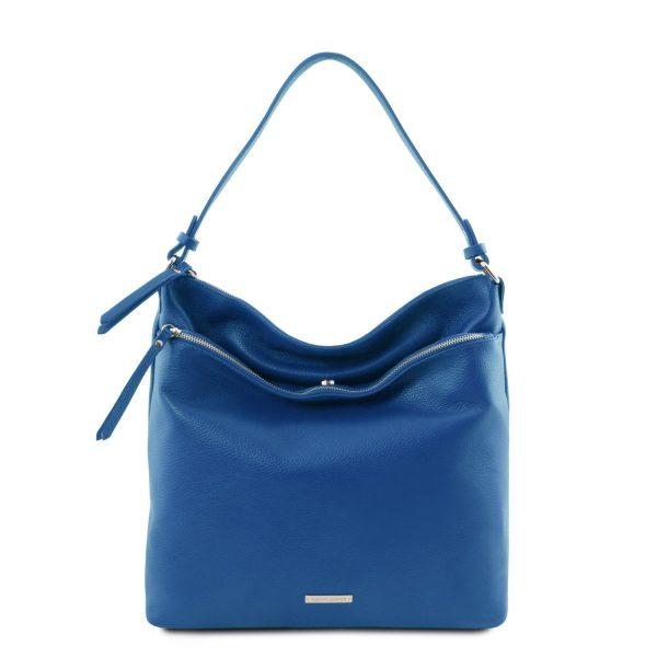 Soft Leather Shoulder Bag - Nastia