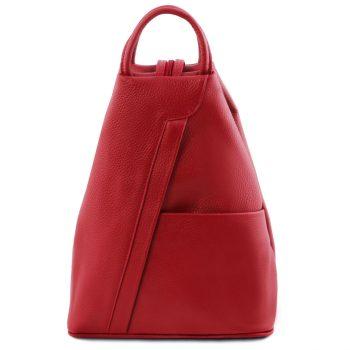 Unisex Leather Backpack - Shanghai