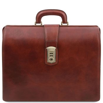 Leather Doctor Briefcase with 3 Compartments - Canova