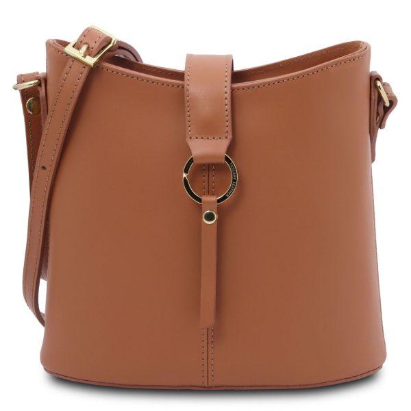 Leather Shoulder Bag for Women - Teti