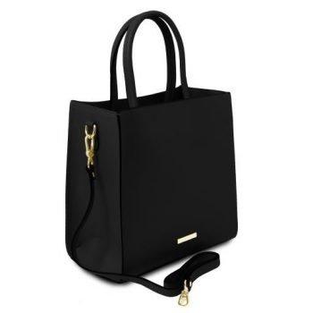Leather Vertical Tote Bag - Medea 1