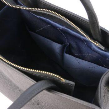 Leather Vertical Tote Bag - Medea 4