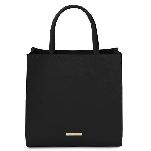 Leather Vertical Tote Bag - Medea