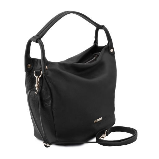 Soft Leather Hobo Bag - Lundi 1