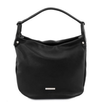 Soft Leather Hobo Bag - Lundi