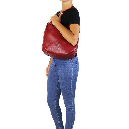 Soft Leather Hobo Bag - Lundi 6