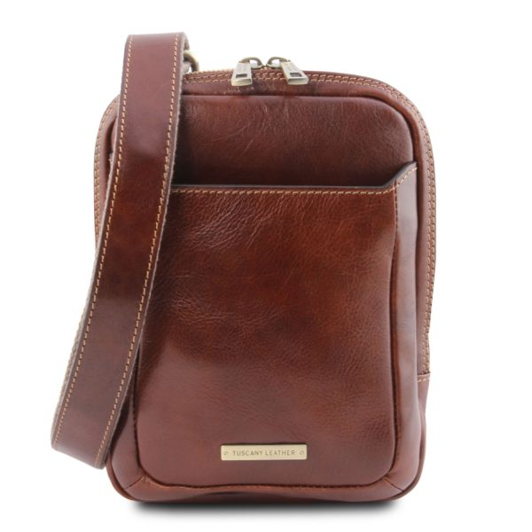 Leather Crossbody Bag - Mark