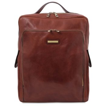 Leather Laptop Backpack - Large Size - Bangkok