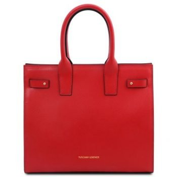 Leather Tote Handbag - Catherine