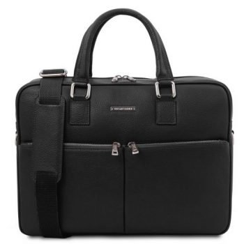 Unisex Leather Laptop Briefcase - Treviso