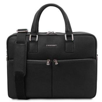 Unisex Leather Laptop Briefcase - Treviso
