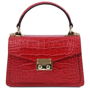 Croc Print Leather Mini Bag - Noves