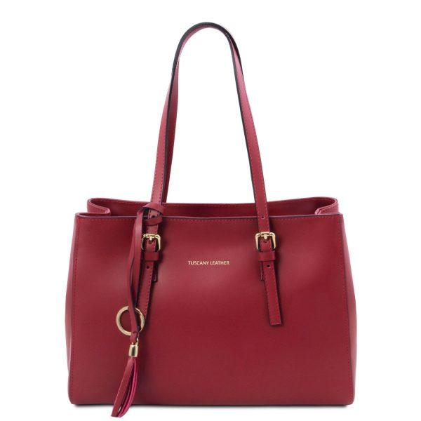 Leather Shoulder Bag - Mazan