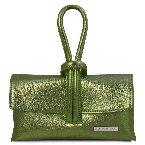 Metallic Leather Clutch Bag – Lussan