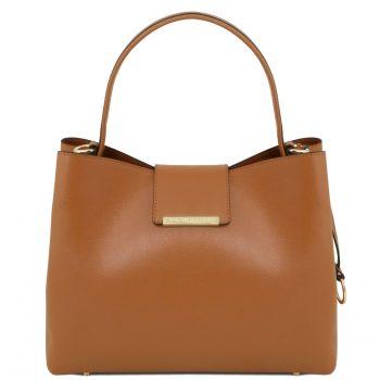 Saffiano Leather Secchiello Bag - Clio