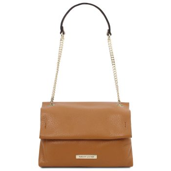 Soft Leather Shoulder Bag - Curel
