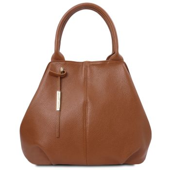 Soft Leather Tote Bag - Chatte
