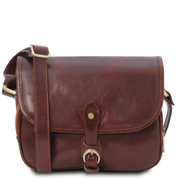 Leather Shoulder Bag - Alessia