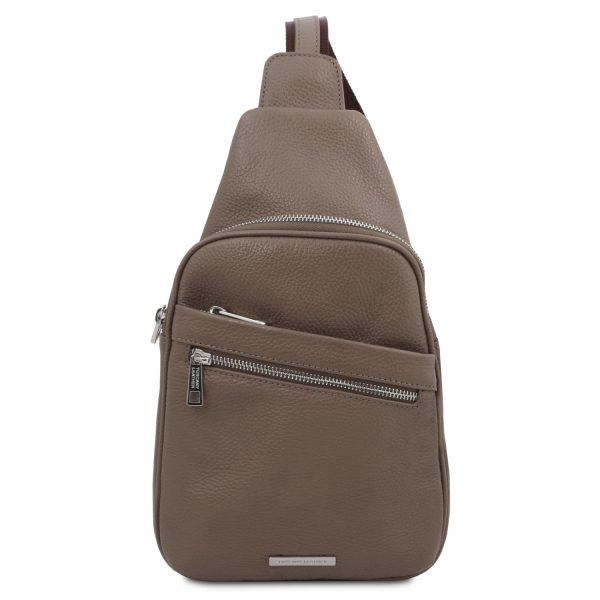 Soft Leather Crossover Bag - Albert