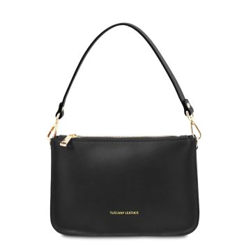 Leather Clutch Handbag - Cassandra