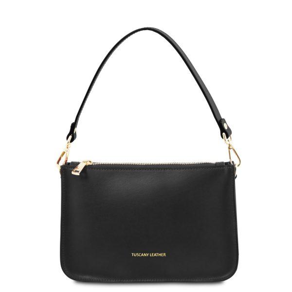 Leather Clutch Handbag - Cassandra