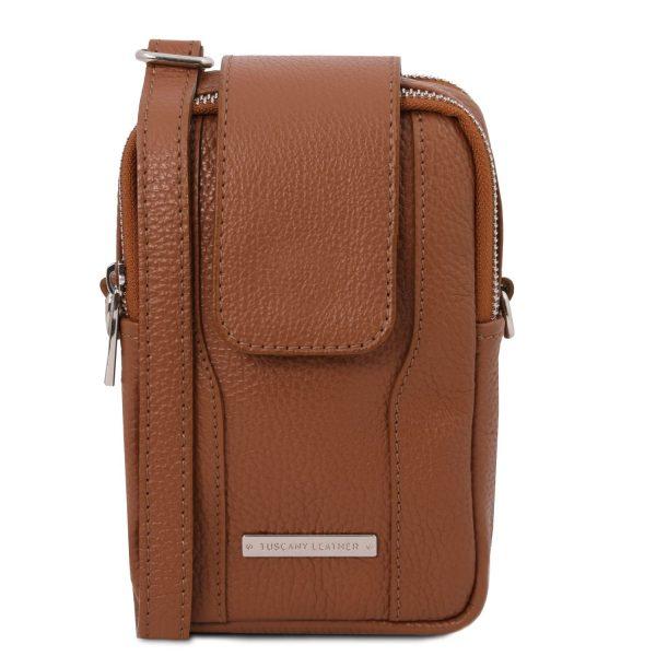 Soft Leather Cellphone Holder Mini Cross Bag - Mende