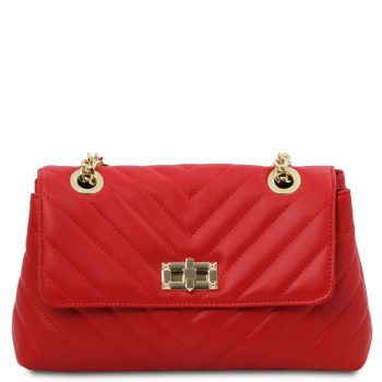 Soft Leather Shoulder Bag - Boulbon