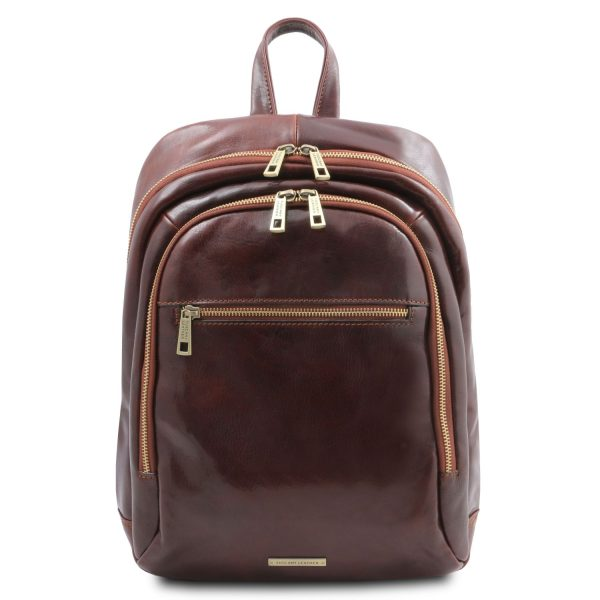 Unisex 2 Compartments Leather Backpack – Perth