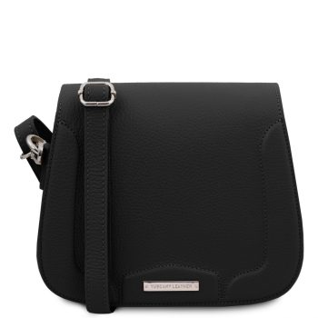 Leather Shoulder Bag - Jasmine - Black