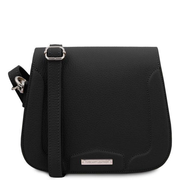 Leather Shoulder Bag - Jasmine - Black