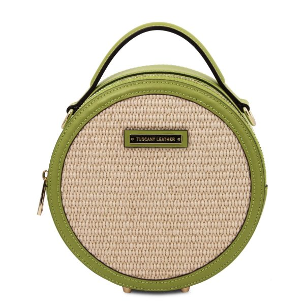 Straw Effect Round Bag – Thelma
