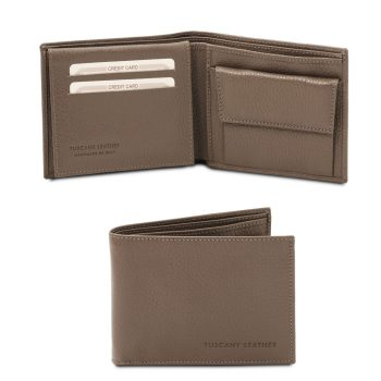 Exclusive Soft 3-Fold Leather Wallet with Coin Pocket for Men – Langon