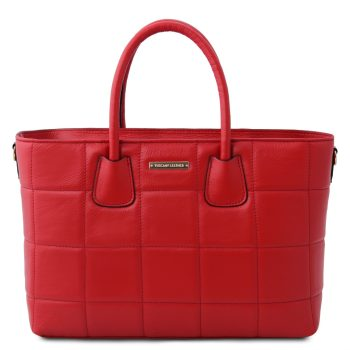 Soft quilted leather handbag – Figeac