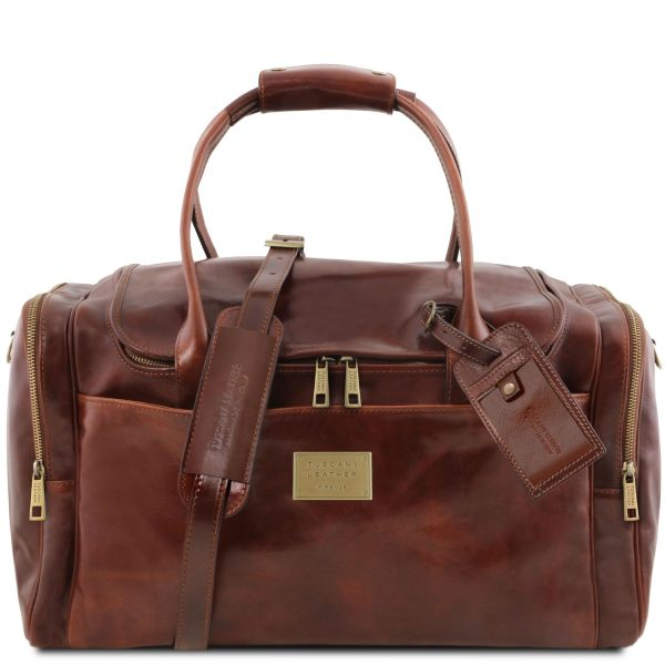 Travel Leather Bag with Side Pockets – Large Size – Peyrus